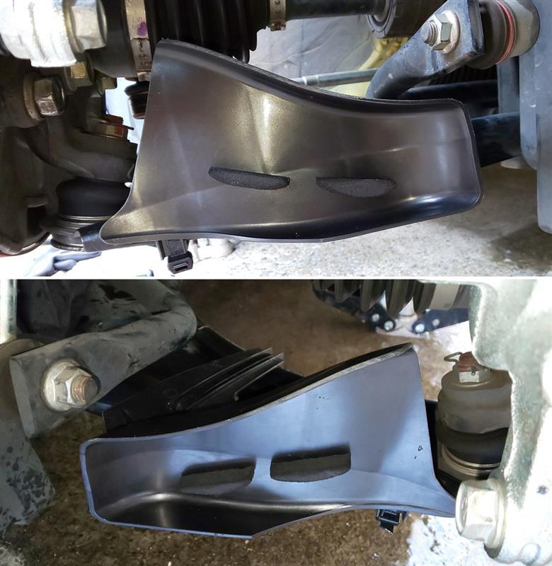ブレーキ導風板取付