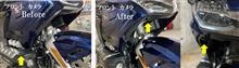 ゴールドウイング ドライブレコーダー取付位置変更のカスタム手順1