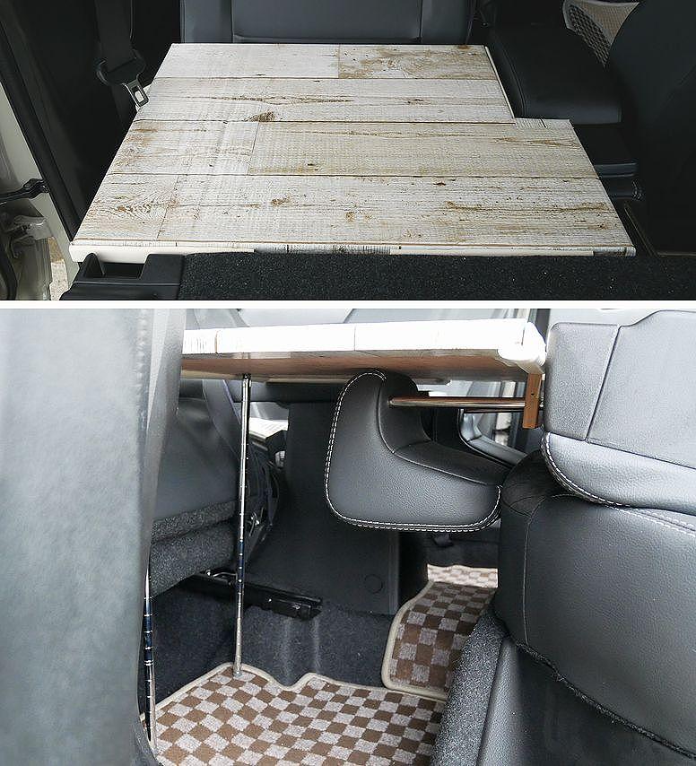 車中泊計画その1 フラットスペース(不用品+100均)