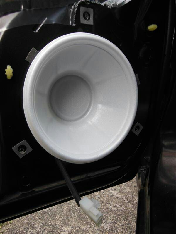 フロントドアスピーカー交換&お手軽防水処理