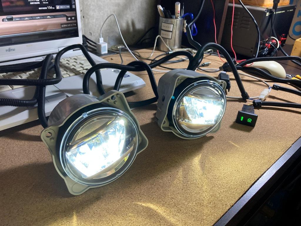 純正LEDフォグ取付