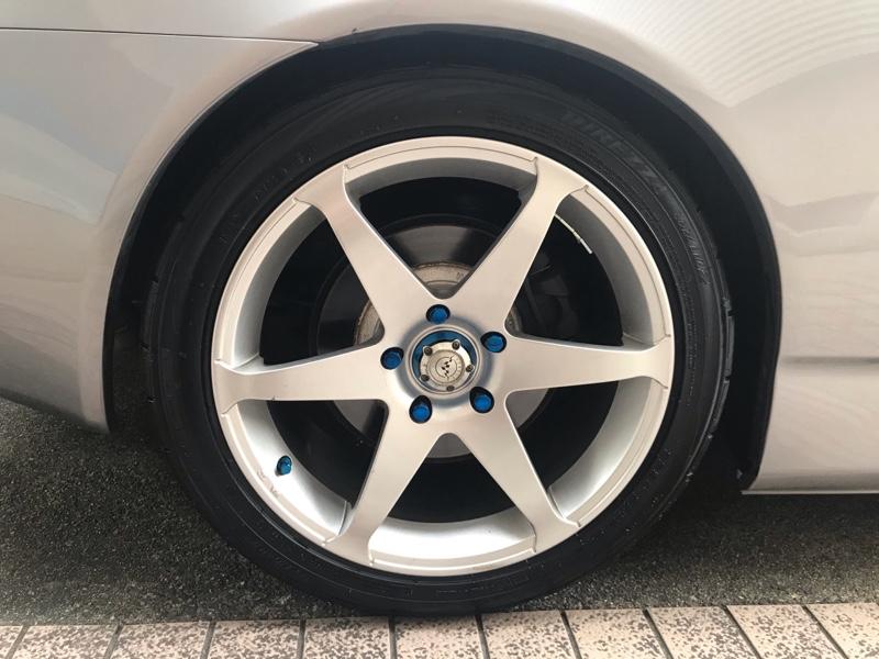 後輪タイヤ組み替え