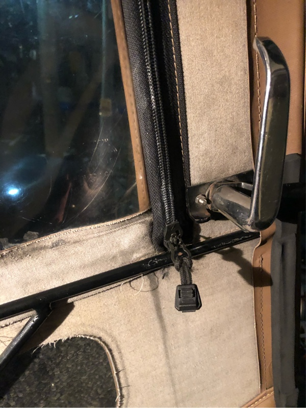 とうとうベストップドアのファスナーが完全に逝かれたので修理の巻( ̄▽ ̄;)