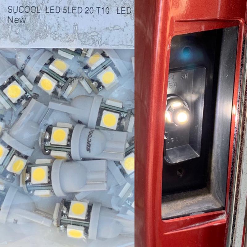 ヘッドライト透明化、マフラー取付け、ナンバー灯等