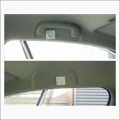 壁面ガードを前席アシスト<br /> グリップ付近に貼り付けます。<br />