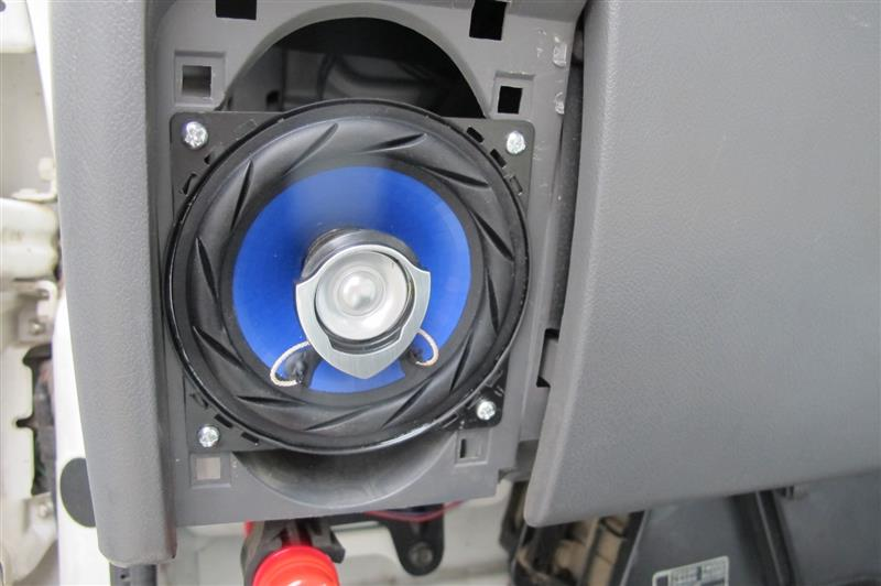 1DIN MD、AM/FMチューナーデッキ&社外10cm2wayスピーカー取付