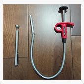 伸びる磁石→ボルトやソケット落下時に使用<br /> <br /> 押したら3本爪が出るやつ→プラグソケット取り出しに使用。プラグは指で何とか抜ける。