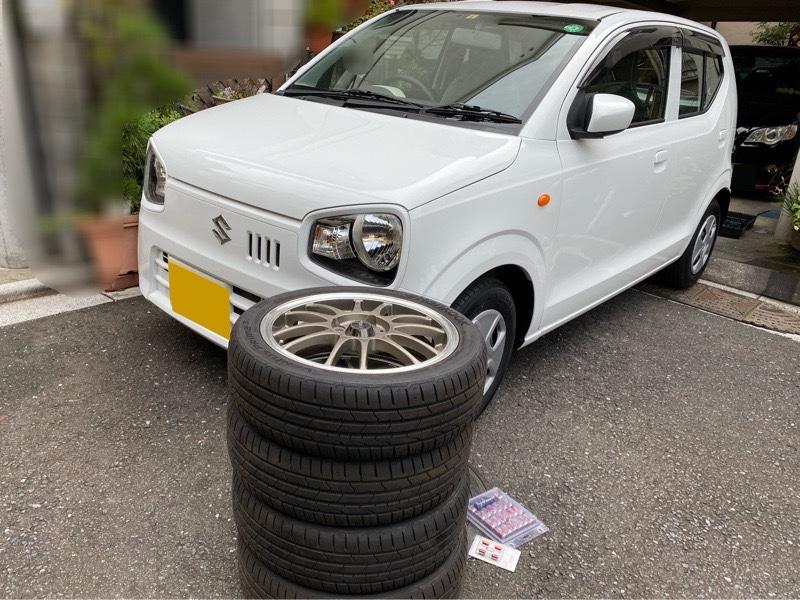 初タイヤ、ホイール 取り付け( ◠‿◠ )