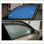 運転席・助手席もサンシェードを<br /> 作成し、遮光・断熱します。<br />