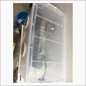 アルミのクランクケースを綺麗にしたく…自作でウエットブラストを。