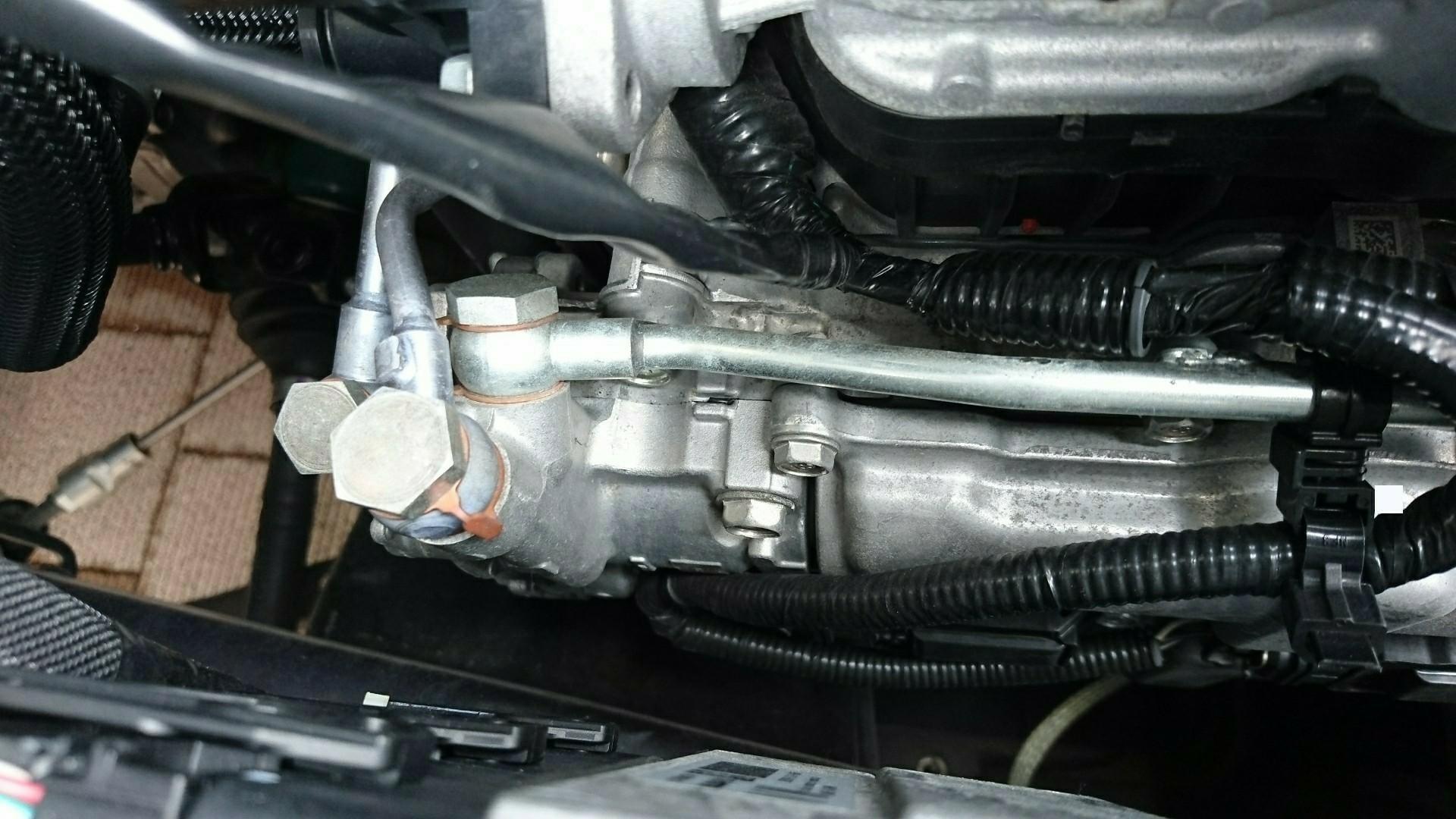 エンジンオイル漏れ点検結果