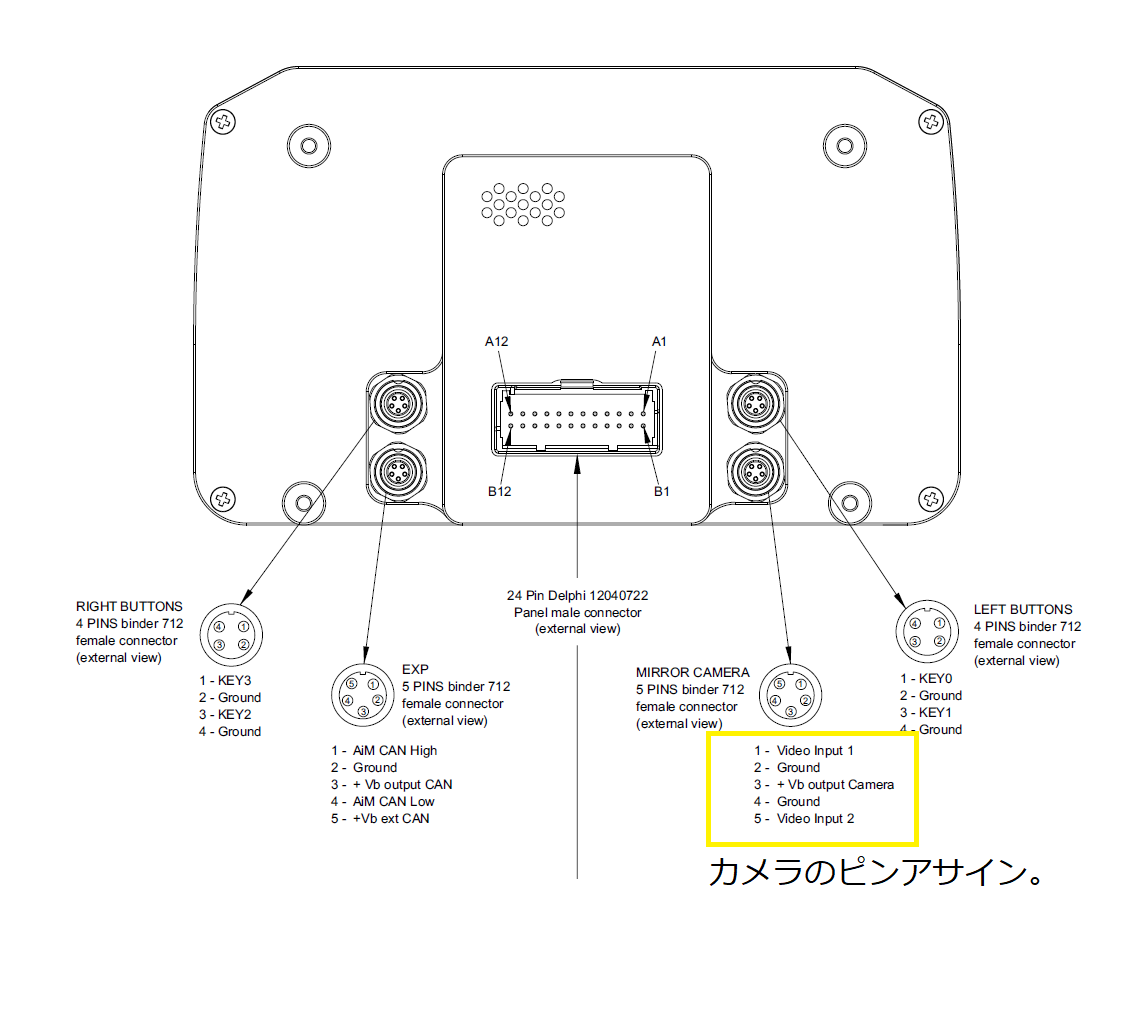 AIM MX2e用汎用カメラ入力ケーブルの製作 その1