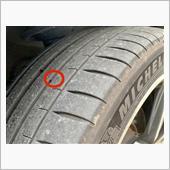 右フロントタイヤの箇所<br />