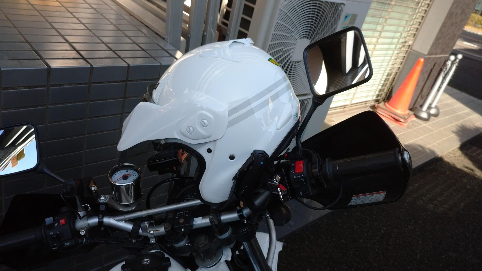 ヘルメットホルダー増設【取り付け編】