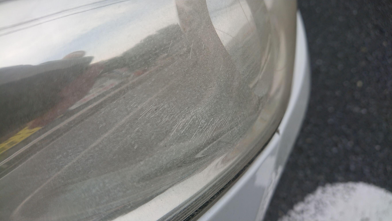 ヘッドライトクリア塗装