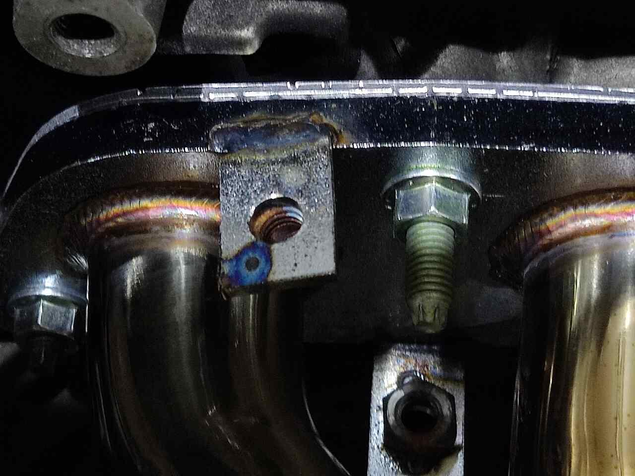 エキマニボルト破損とガス漏れ(対策-実践篇)