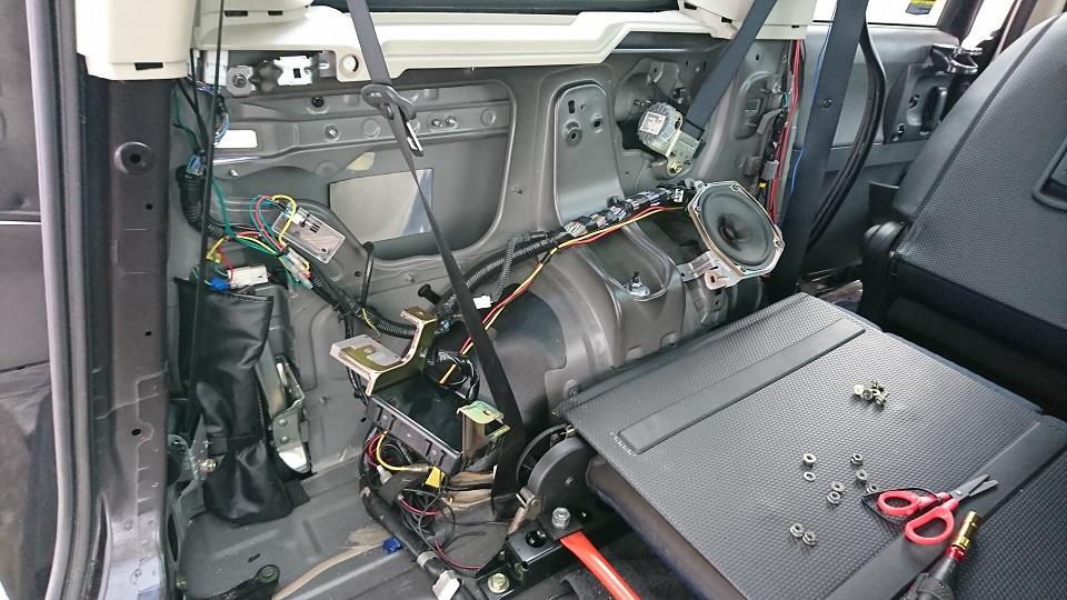 オートスライドドアモーターユニット交換