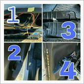 1、ドア内張り下の方に設置したリードスイッチ部分にマスキングテープで印<br /> <br /> 2、ステップ側にもマスキングテープ(この辺に来るのか程度)<br /> <br /> 3両面テープでダイソーのネオジム磁石をサイドステップにくっつけました<br /> <br /> 4、ドアスイッチのコネクターと同じ場所に接続を持ってきてあるから内張りを戻すタイミングでギボシをつなぎます(光りました)<br /> <br /> 今後ドア内張りを剥がしてなにかするときも脱着が楽そうです。<br /> <br /> この作業を夏場してたら異世界言ってたと思う。