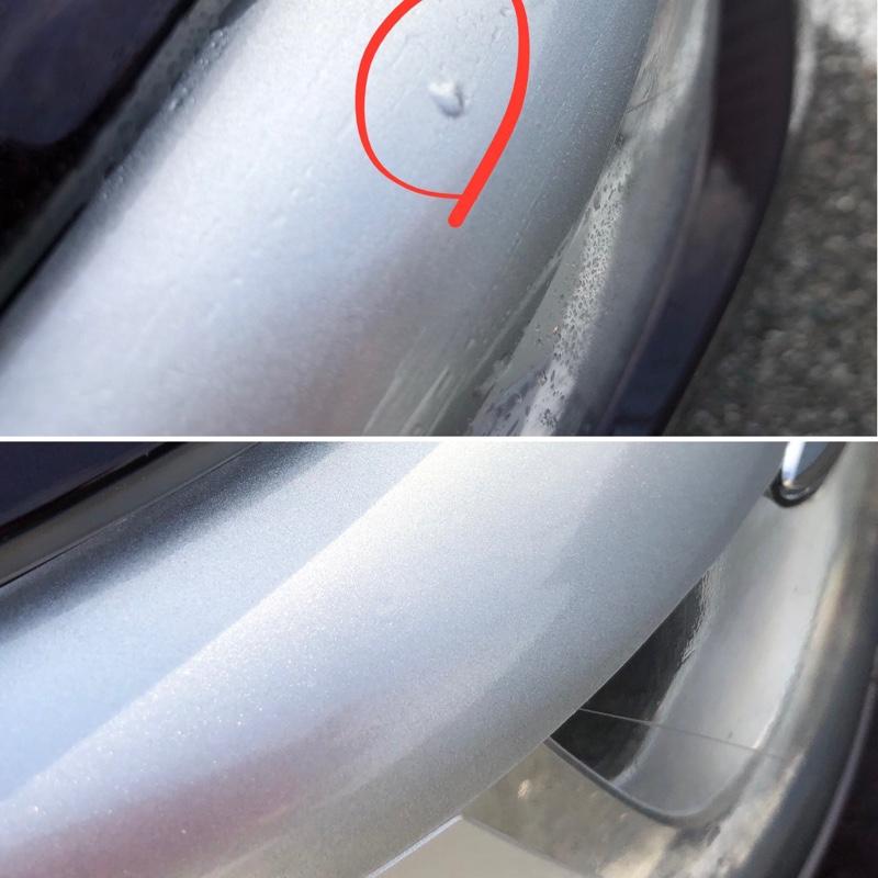ヘッドライト自作アイラインステッカー貼付け