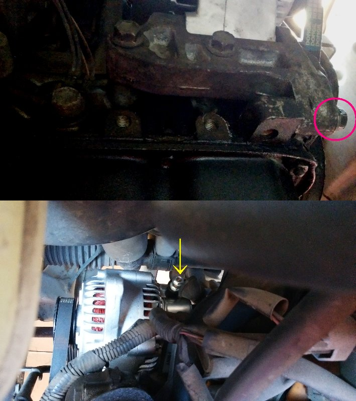 HA23V アルト オルタネーター交換 DIY 簡単下抜き方法 取付編 No.2