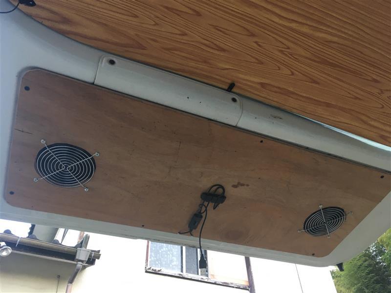 換気扇 変更 バックドアパネル