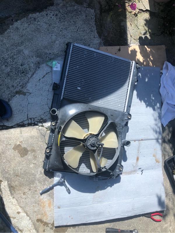真鍮二層から純正ラジエーターに交換しました