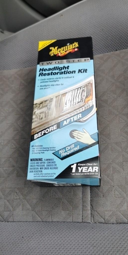 ヘッドライト磨きとコーティング