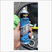 そしてこのコーティングスプレーを使う。<br /> その前に薄めた中性洗剤でライトを綺麗にして乾燥。