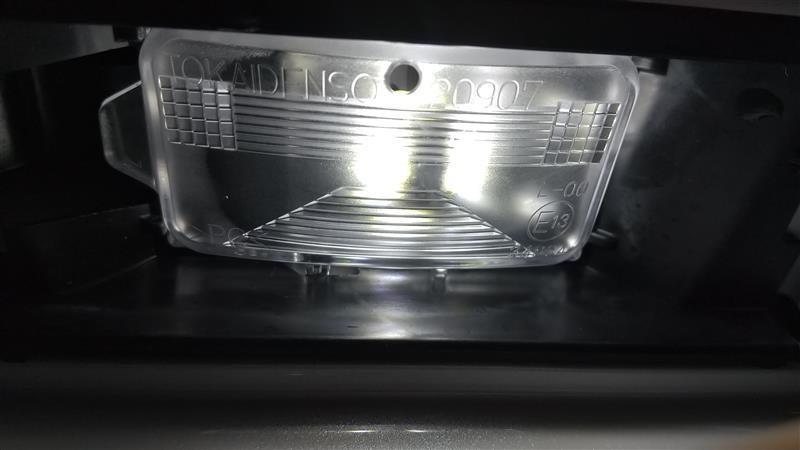 ライセンスランプ LED化