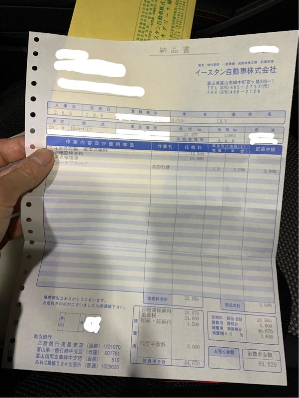 XV 初回車検 +スイスポ試乗
