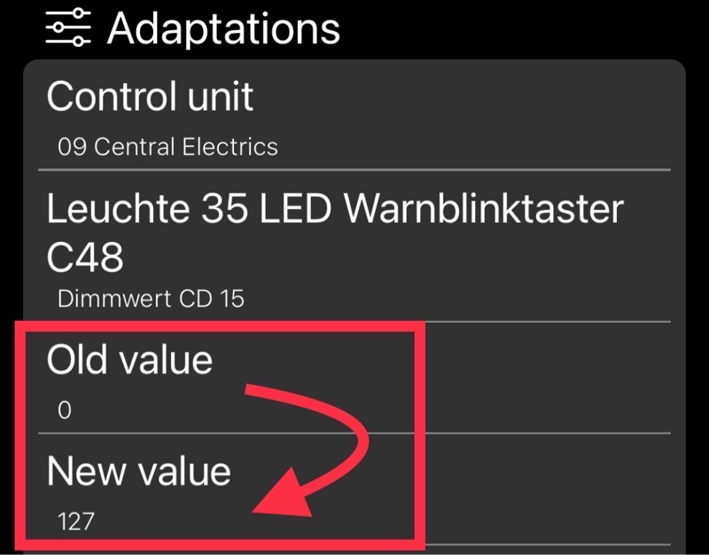 OBDeleven備忘録:ハザードランプモニターのブレーキランプ連動化