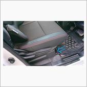 自作//アルカンターラ調 スエードシート貼り付け(運転席シートフレームカバー)Vol.4