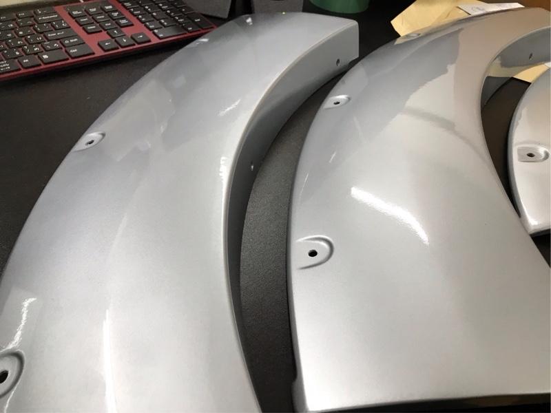 JAOSオーバーフェンダー塗装と取り付け