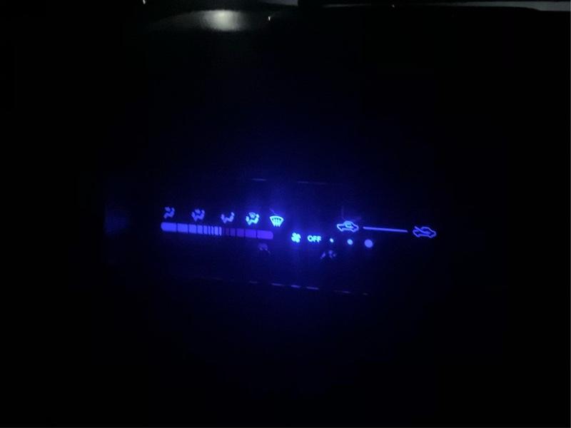 メーター&エアコンパネル LED化