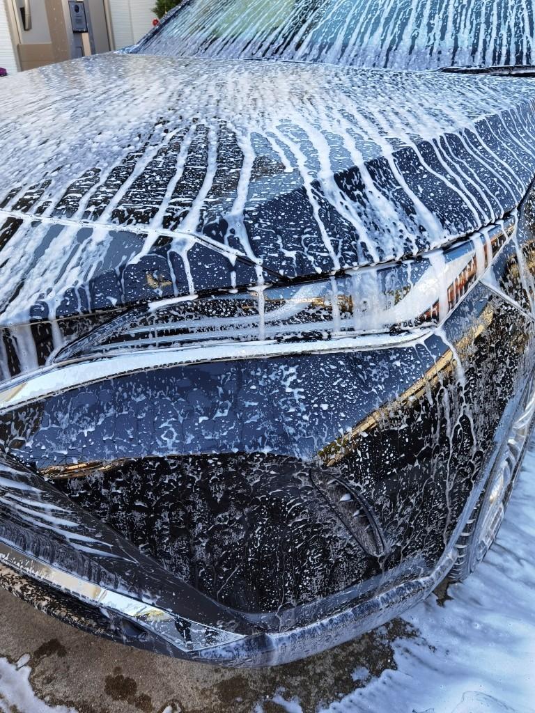 フォームガンで洗車