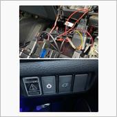 スイッチは未使用のブランクカバーと差し替えて此方のアクリルブランクスイッチの横に設置しました。<br /> 上の写真はスイッチカバーの裏の配線になります<br /> このスイッチの設置により任意でBSMの機能をON OFFできます。