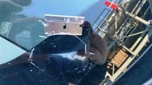 フロントガラスの飛び石修理(^_-)-☆