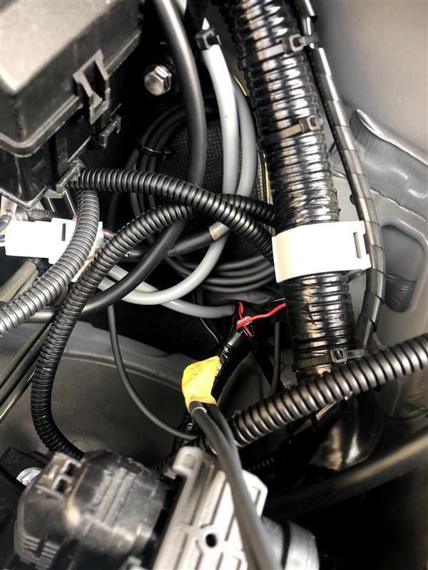 油温・油圧計の取付(その3)