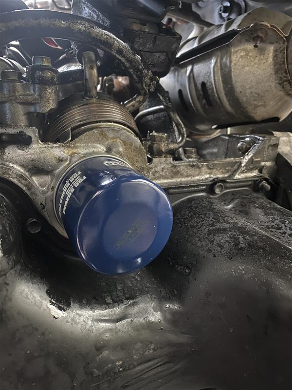 ジムニー JB23 オイルクーラー オイル漏れ シール(パッキン)交換