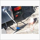 いつもの様に私の青春時代にいた『ガソリン泥棒』の様に、セブンからガソリンを抜き取ります。