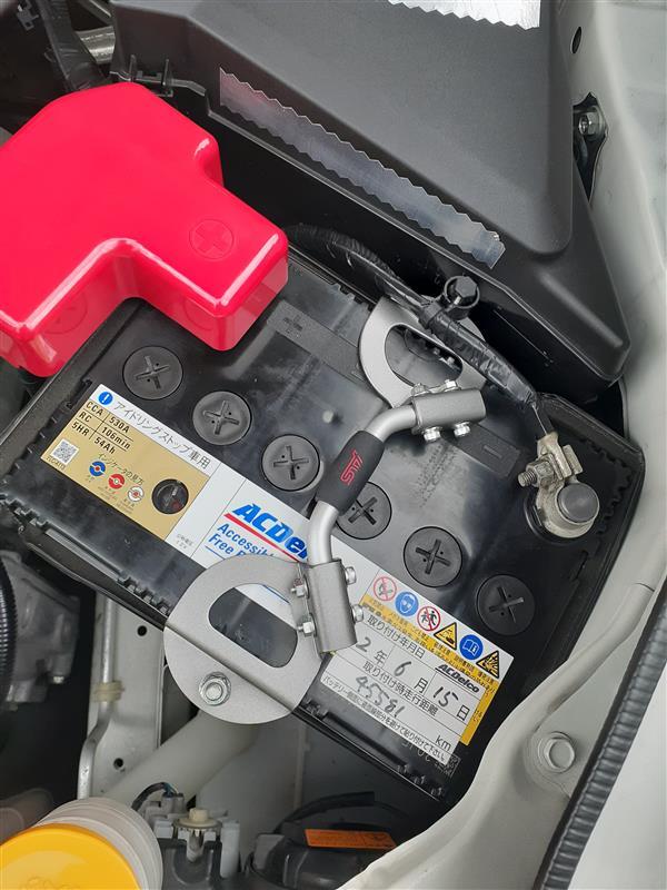 STIバッテリーホルダー取付