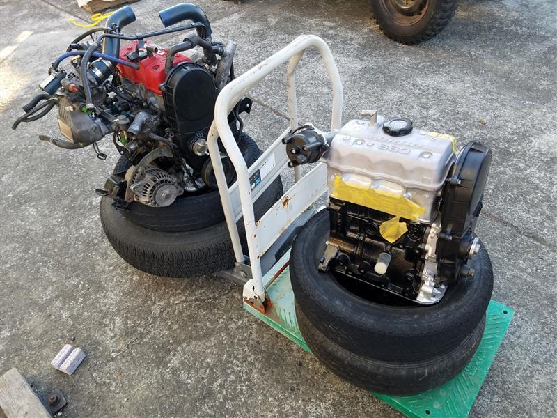 エンジン載せ替え×3回目 ついでに電動ファンにしたり、排気漏れしてたり、結局最後にオイル漏れする