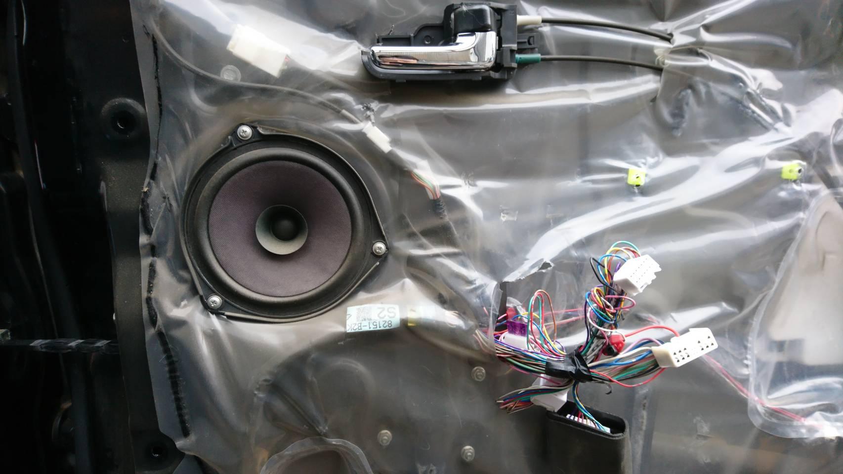 L375S タント カスタムRS フロントドアスピーカー交換