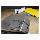 もぅ1枚図描きます(^^←<br /> コレは押さえ付け用のプレート🎵<br /> 薄くて軽い2㍉厚のアルミ板#5000番材を使用します♂<br />
