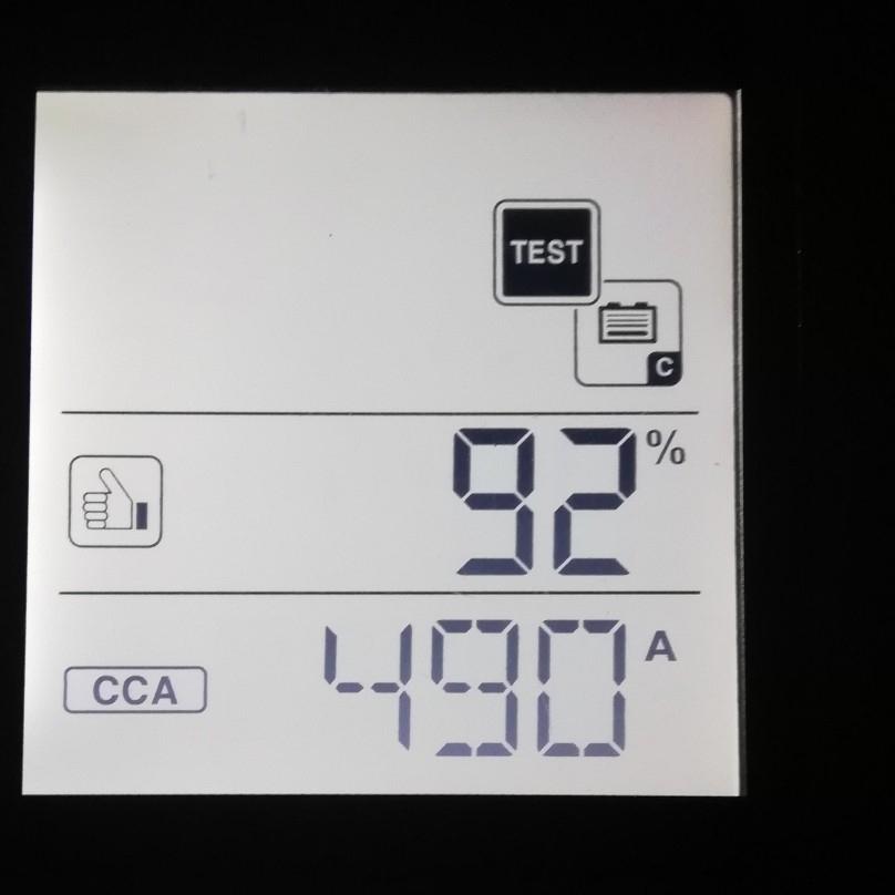 ムーヴバッテリーのCCA 値の計測