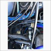 先日、下回りを見た時にパラステのオイルが漏れているのを発見してしまいました😱<br /> レンタルガレージで作業したので交換後しか写真ないですが交換できました。<br /> ステアリングラックに接続するフレアナットが半端なくハマらなくめちゃくちゃ苦労しました😭