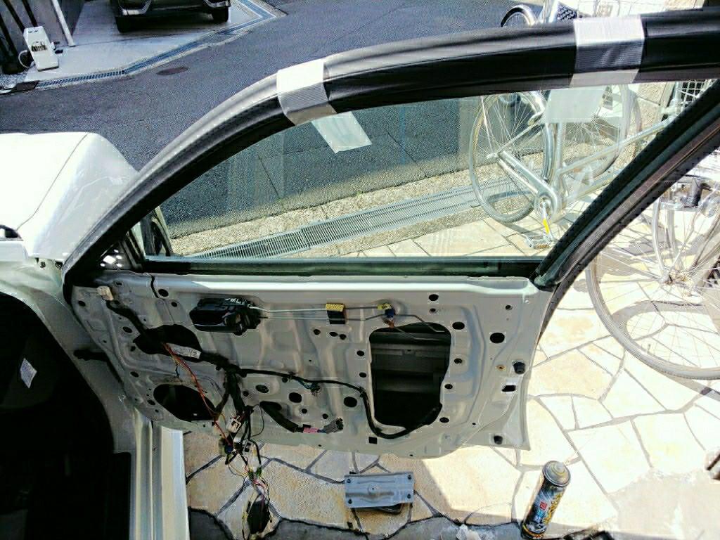 運転席パワーウィンド修理 2