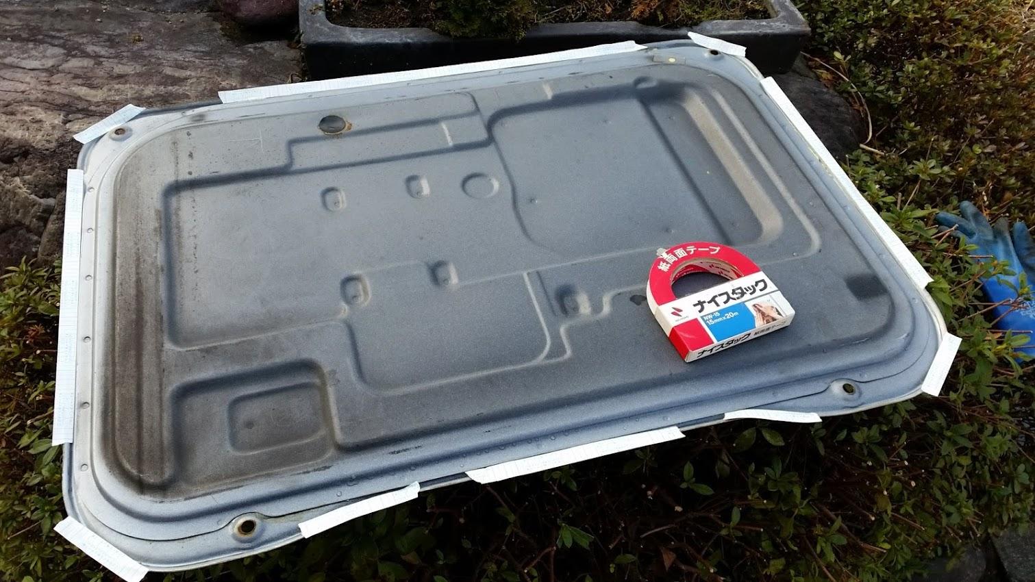 エンジンフードパッキン修理