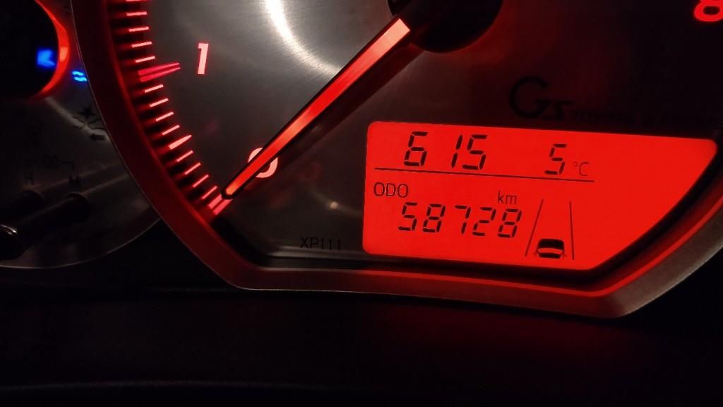 58728km 感度MAX取付