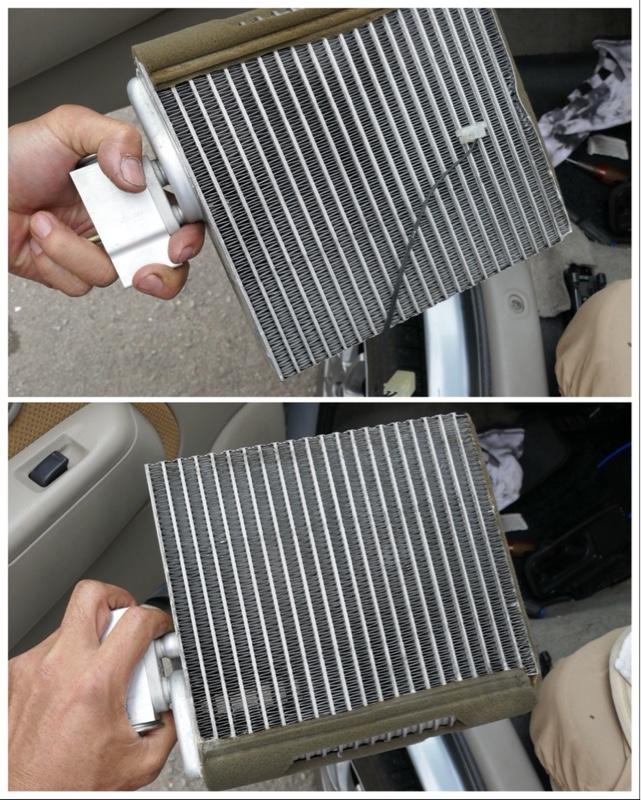 エアコン漏れのついでにエバポレーター点検・清掃・Oリング交換